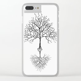 Tree of life meaning white Clear iPhone Case