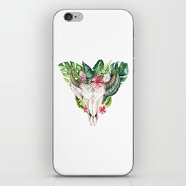 Tropical Skull Bouquet. iPhone Skin