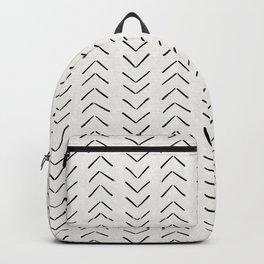 Mud Cloth Big Arrows in Cream Backpack
