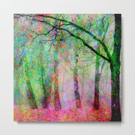 Trees - Colorful1  Metal Print