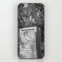 rooster grave iPhone Skin