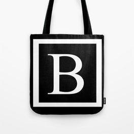 B Monogram Tote Bag