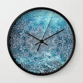 Sea Lights Mandala Wall Clock