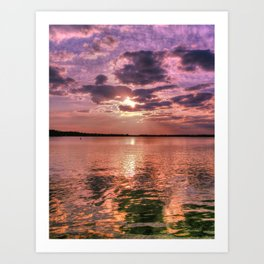 Broad Bay Sunset Art Print