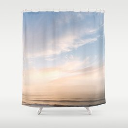 Waves at Sunset off the Oregon Coast Shower Curtain
