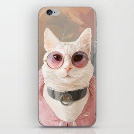 Fashion Portrait Cat iPhone Skin
