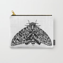 Death's Head Hawk Moth with Cat Skull Carry-All Pouch