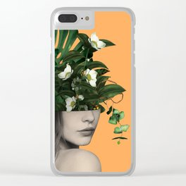 Lady Flowers Vlll Clear iPhone Case