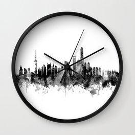 Shanghai China Skyline Wall Clock