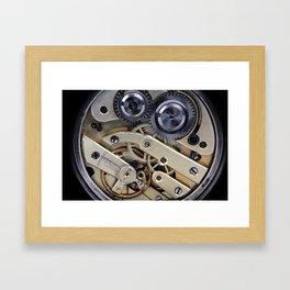 Clockwork mechanism  Framed Art Print