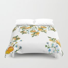 A Bit of Spring and Sushine Trailing Oranges Duvet Cover