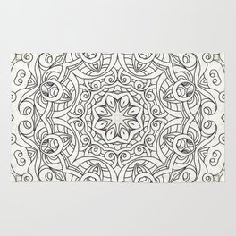 Drawing Floral Doodle G2 Rug
