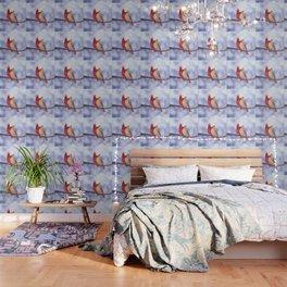 northern cardinals (bokeh) Wallpaper
