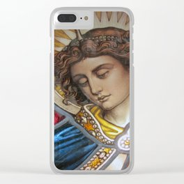 Angel in Glass Clear iPhone Case