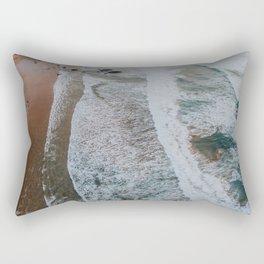 Beach from above Rectangular Pillow