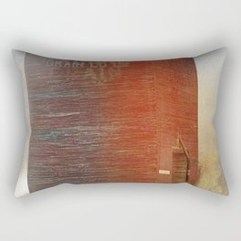 A simple red barn           (To all my American friends I wish you a very good 4 July ) Rectangular Pillow