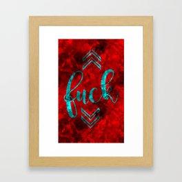 fvck Framed Art Print