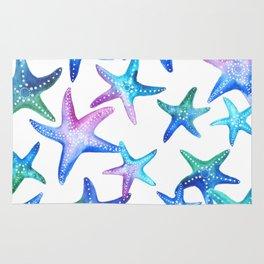 Watercolor Starfish Rug