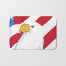 Eagle And Flag Bath Mat