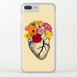 Flower Heart Clear iPhone Case