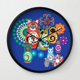 матрешка кошки - Catryoshka Wall Clock