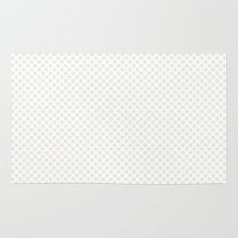 Star White Polka Dots Rug