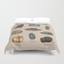 Gems and Minerals Duvet Cover