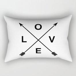 Love and Arrows Rectangular Pillow