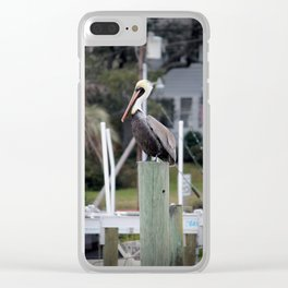 Adult Brown Pelican Clear iPhone Case