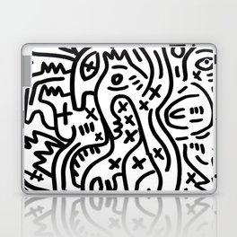 Graffiti Street Art Black and White Laptop & iPad Skin