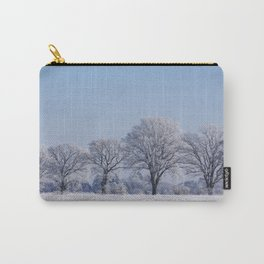 winter walk rural snow landscpape north Germany Carry-All Pouch