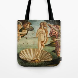 The Birth of Venus (Nascita di Venere) by Sandro Botticelli Tote Bag