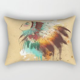 Native American Girl Rectangular Pillow
