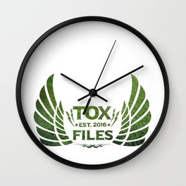 Tox Files - Green on White Wall Clock
