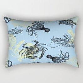 Vintage Sea Creatures Rectangular Pillow