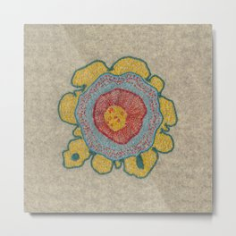 Growing - Pinus#1 - embroidery based on plant cell under the microscope Metal Print