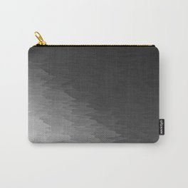 Dark Gray Texture Ombre Carry-All Pouch