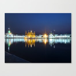 Golden Temple at Night Canvas Print