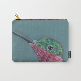 Ruby Throated Hummingbird Portrait Carry-All Pouch