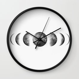 Phases of the moon - Scandinavian art Wall Clock