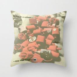 bustin caps Throw Pillow