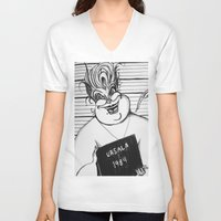 ursula V-neck T-shirts featuring Ursula by Gabrielle Wall