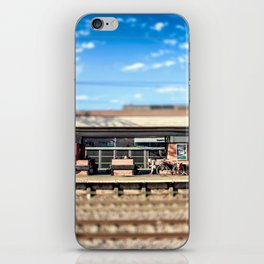 Miniature People at the Station iPhone Skin