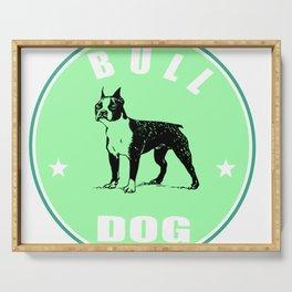 bull dog Serving Tray