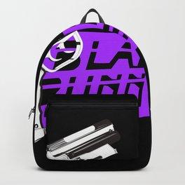 Time to die Version Neon Purple Backpack