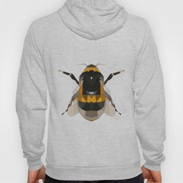 Bumble bee artwork Geomeric art Yellow and black Bee Midern design Hoody