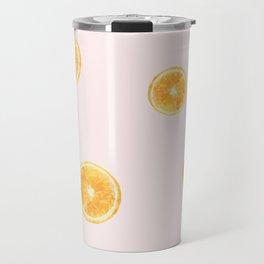 Orange watercolor Travel Mug