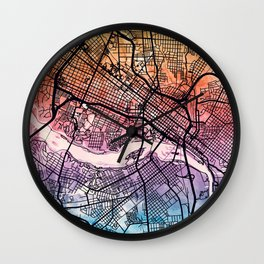 Richmond Virgina City Map Wall Clock