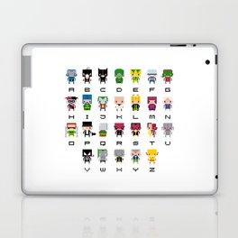 Pixel Supervillain Alphabet 2 Laptop & iPad Skin