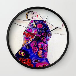 The Embrace Reimagined By James Thomas Ryan Wall Clock